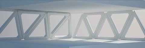 Rendu blanc de la conception intérieure 3D Images stock