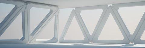 Rendu blanc de la conception intérieure 3D Image stock