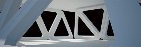Rendu blanc de la conception intérieure 3D Photo stock