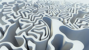 Rendu blanc du labyrinthe 3d de modèle bouclé abstrait illustration stock
