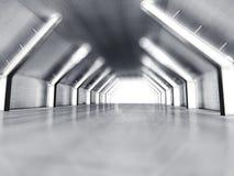 Rendu blanc vide de l'espace ouvert 3D Photos stock