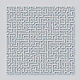 Rendu carré du concept 3d de labyrinthe illustration de vecteur