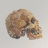 Rendu 3d abstrait de crâne avec les boutons colorés Images libres de droits