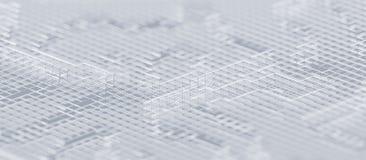 Rendu 3D abstrait de fond moderne illustration stock