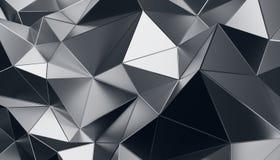 Rendu 3D abstrait de fond polygonal Photographie stock libre de droits
