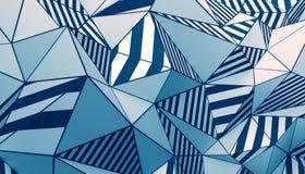 Rendu 3D abstrait de fond polygonal Photos libres de droits