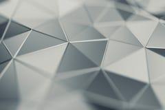 Rendu 3D abstrait de fond polygonal Images libres de droits
