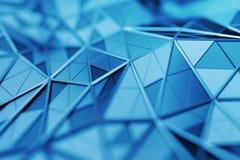 Rendu 3D abstrait de fond polygonal Photographie stock