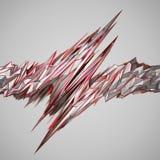 Rendu 3D abstrait de forme polygonale Images libres de droits