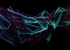 Rendu 3D abstrait de forme polygonale illustration libre de droits