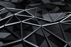Rendu 3D abstrait de la basse poly surface Image libre de droits