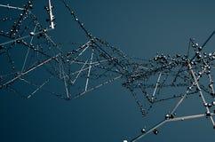 Rendu 3d abstrait de la construction métallique chaotique Image stock
