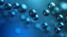 Rendu 3D abstrait de piloter les sphères polygonales Photos stock
