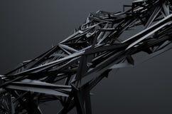 Rendu 3d abstrait de structure chaotique illustration stock