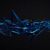 Rendu 3d abstrait de structure chaotique Photographie stock