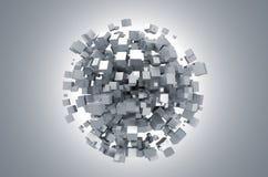 Rendu 3d abstrait des cubes blancs illustration stock