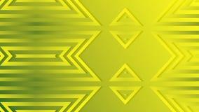 Rendu 3d abstrait des formes géométriques colorées Animation générée par ordinateur de boucle Configuration géométrique illustration libre de droits