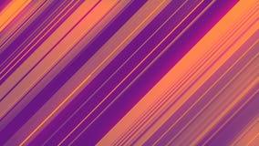Rendu 3d abstrait des formes géométriques colorées Animation générée par ordinateur de boucle Configuration géométrique 4k UHD illustration libre de droits