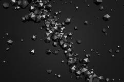 Rendu 3D abstrait des sphères polygonales Image libre de droits