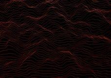Rendu 3D abstrait des vagues avec des particules Photographie stock