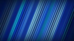 Rendu 3D abstrait diagonal de rayures bleues Photographie stock
