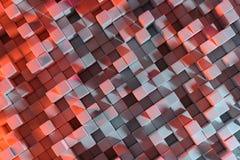 rendu 3D avec des cubes illustration libre de droits