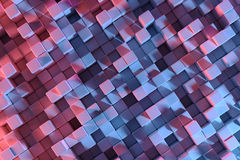 rendu 3D avec des cubes illustration de vecteur
