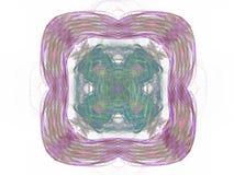 rendu 3d avec le modèle abstrait coloré de fractale Photo stock