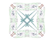 rendu 3d avec le modèle abstrait coloré de fractale Image stock