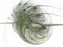 rendu 3d avec le modèle abstrait vert de fractale Photos stock