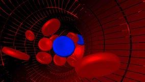 Rendu 3d bleu de cancer de virus de maladie de veine de sang Image libre de droits