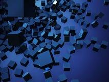 Rendu 3d coloré abstrait de cubes Image libre de droits