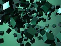 Rendu 3d coloré abstrait de cubes Photographie stock libre de droits