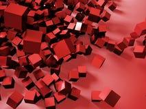 Rendu 3d coloré abstrait de cubes Images stock