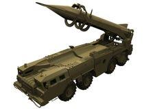 rendu 3d d'un lanceur de missile Scud Images stock