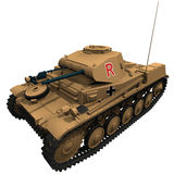 rendu 3d d'un réservoir de Panzer 2 d'Allemand Image libre de droits