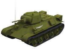 rendu 3d d'un réservoir du Soviétique T-34 Image libre de droits