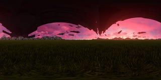 rendu 3d d'un skybox étranger d'invasion illustration de vecteur