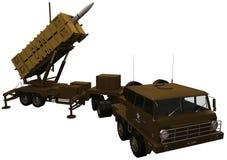 rendu 3d d'un système de défense de missiles de patriote Photo libre de droits