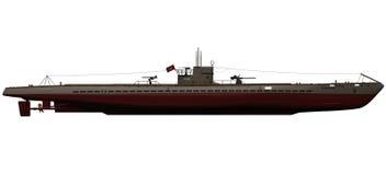 rendu 3d d'un U-bateau allemand d'IX-B Photo libre de droits