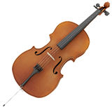 rendu 3d d'un violoncelle Photos libres de droits