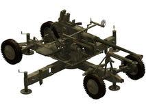 rendu 3d d'une arme à feu de Bofors 40mm aa Photographie stock libre de droits