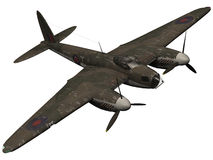 rendu 3d d'une guerre mondiale bombardier de moustique de 2 ères Images libres de droits