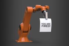 rendu 3d de bras robotique industriel frais avec une note Illustration Libre de Droits