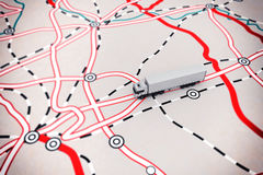 rendu 3D de carte de transport Image stock