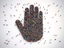 rendu 3D de concept des personnes alt Images libres de droits