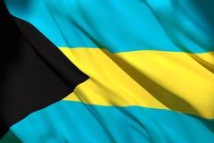 rendu 3d de drapeau des Bahamas illustration de vecteur