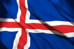 rendu 3d de drapeau de l'Islande illustration de vecteur