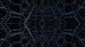 rendu 3d de fond bleu abstrait banque de vidéos