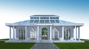 rendu 3D de l'extérieur de construction Perspective 3D d'architecture Photos stock